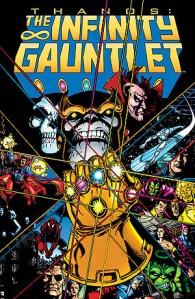 Thanos porte le gant d'infini - avant que Warlock ne vienne lui reprendre
